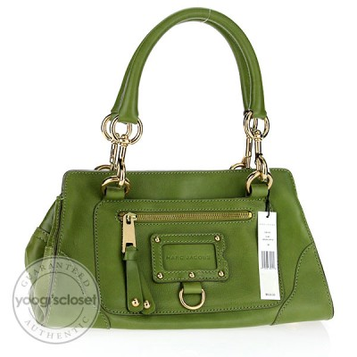 Marc Jacobs Green Apple Leather Mia Satchel Bag