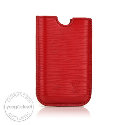 Louis Vuitton Red Epi Leather First Generation iPhone Case