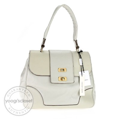 Marc Jacobs Linen Leather Sting Rachel Bag