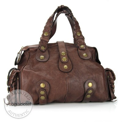 Chloe Brown Leather Large Silverado Bag