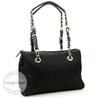 Prada Black Quilted Nylon Impunturato Vin Bag