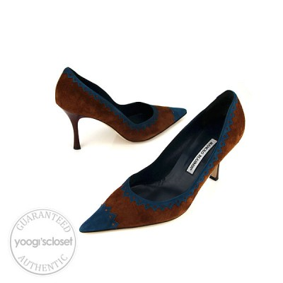 Manolo Blahnik Brown Special Edition For Neiman Marcus Heels size 10.5