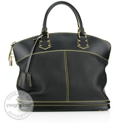 Louis Vuitton Black Suhali Lockit MM Bag