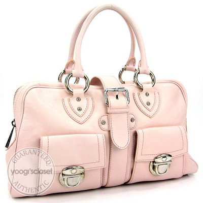 Marc Jacobs Rose Water Leather Venetia Satchel Bag