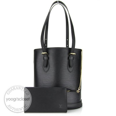 Louis Vuitton Black Epi Leather Petite Bucket Bag