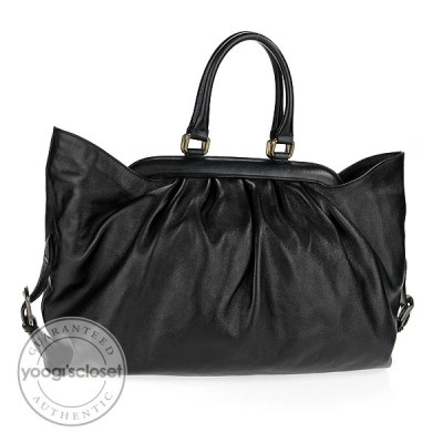 Fendi Black Leather Borsa Frame Doctor Tote Bag