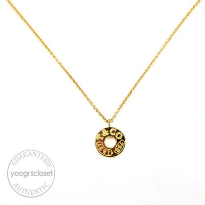 Tiffany & Co. 18k Gold 1837 Circle Pendant Necklace