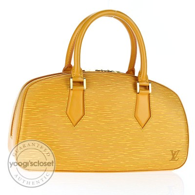 Louis Vuitton Yellow Epi Leather Jasmin Bag