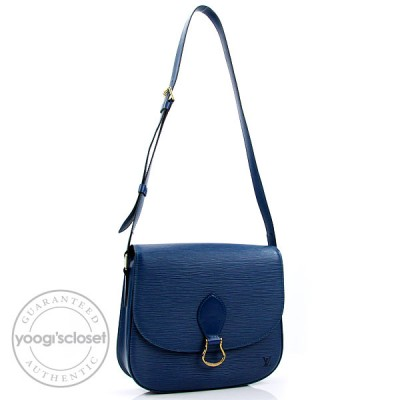 Louis Vuitton Toledo Blue Epi Leather Saint-Cloud GM Bag