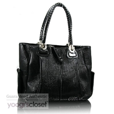 Chloe Black Patent Lambskin Heloise Large Satchel Bag