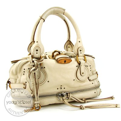 Chloe Beige East West Paddington Large Zippy Satchel Bag