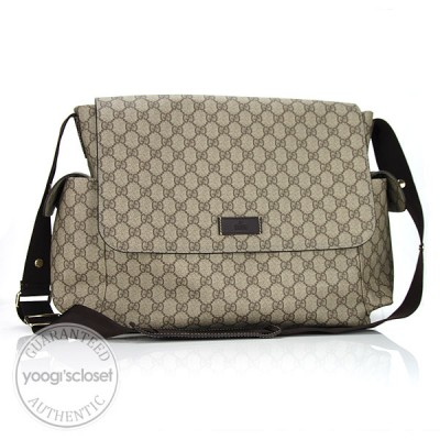 Gucci GG Coated Canvas Baby Messenger Diaper Bag