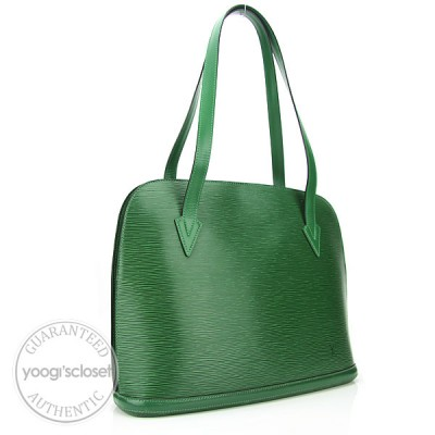 Louis Vuitton Borneo Green Epi Leather Lussac Bag