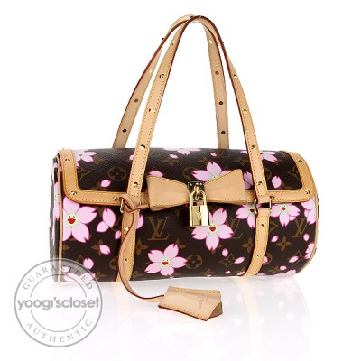 Louis Vuitton Limited Edition Cherry Blossom Papillon Bag