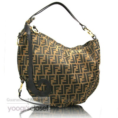 Fendi Tobacco Zucca Borsa Biga Media Hobo Bag