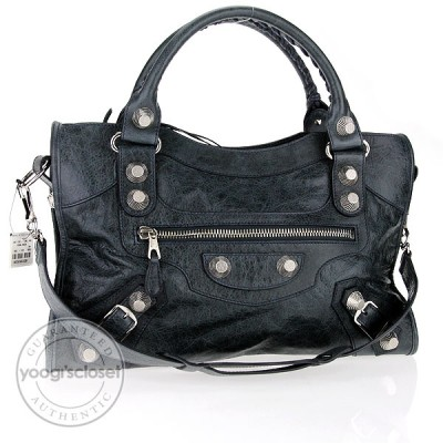 Balenciaga Anthracite Chevre City Giant Hardware Bag