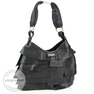 Yves Saint Laurent Black Leather Small St. Tropez Bag