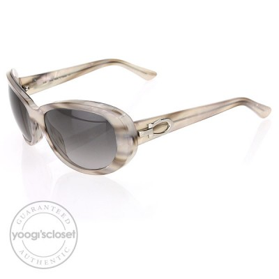 Cartier Composite Pearly White & Smooth Platinum w/ C Decor Sunglasses