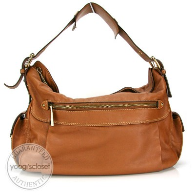 Marc Jacobs Dark Beige Leather Jane Shoulder Bag