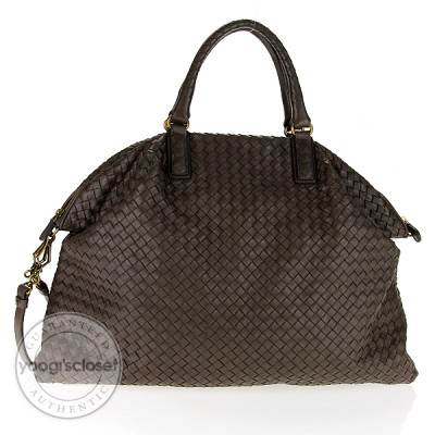 Bottega Veneta Ash Woven Leather Convertible Large Tote Bag