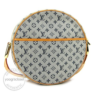 Louis Vuitton Blue Monogram Mini Jeanne GM Messenger Bag