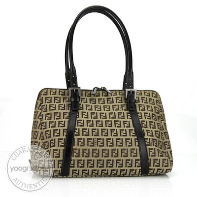 Fendi Zucchino Print Canvas Small Tote Bag