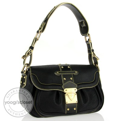 Louis Vuitton Black Suhali Le Confident Bag
