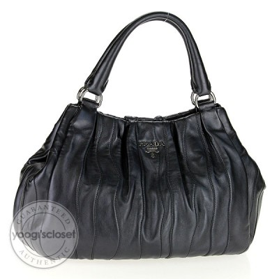 Prada Anthracite Mordore Nappa Stripes Bag BR3953