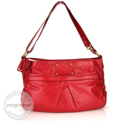 Marc Jacobs Raspberry Leather Palais Royale Bag