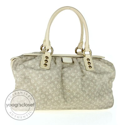 Louis Vuitton White Monogram Mini Lin Trapeze GM Bag