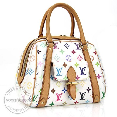 Louis Vuitton White Monogram Multicolore Priscilla Bag