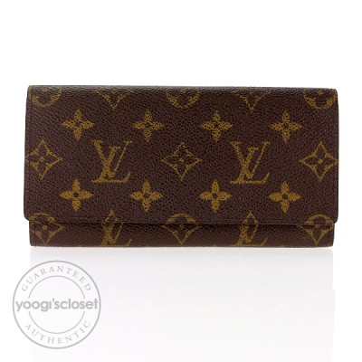 Louis Vuitton Monogram Canvas Long Wallet