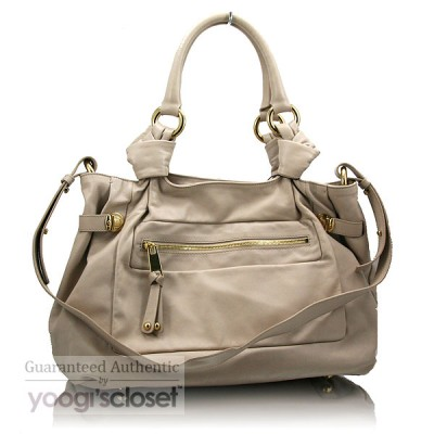 Marc Jacobs Putty Leather Mercer East/West Tote Bag