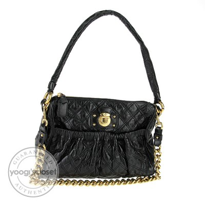 Marc Jacobs Black Quilted Calfskin Leather Julianne Stam Bag