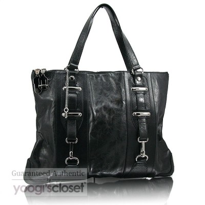 Balenciaga Black Chevre Flat Hook Bag