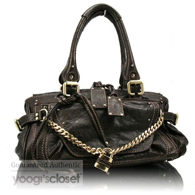 Chloe Moka Leather Paddington Capsule Satchel Bag