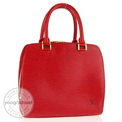Louis Vuitton Red Epi Pont-Neuf PM Bag