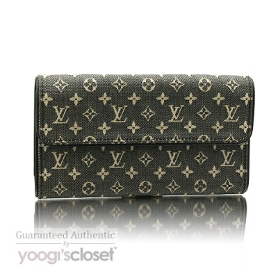 Louis Vuitton Black Mini Monogram Porte-Tresor International Wallet