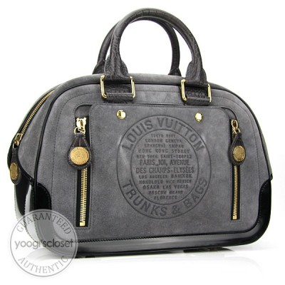 Louis Vuitton Limited Edition Grey Stamped Trunk GM Bag