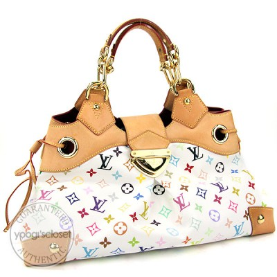 Louis Vuitton White Monogram Canvas Multicolore Ursula GM Bag