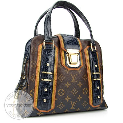 Louis Vuitton Limited Edition Navy Monogram Mirage Delft Exotic Bag