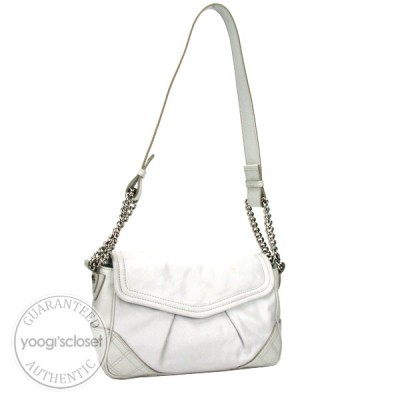 Marc Jacobs Chalk Leather Noel Shoulder Bag