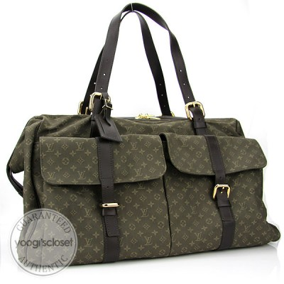 Louis Vuitton Khaki Mini Monogram Louise Duffel Bag