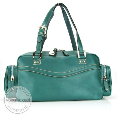 Gucci Teal Leather East/West Multipocket Bag
