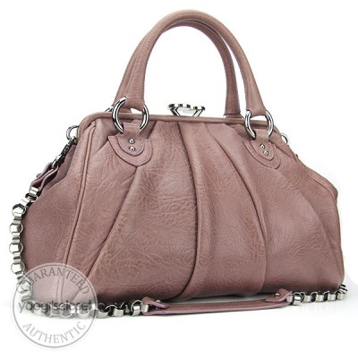 Marc Jacobs Rose Lambskin Sunburst Stam Bag