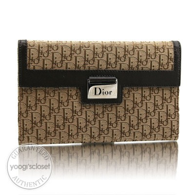 Christian Dior Beige/Brown Diorissimo Long Wallet