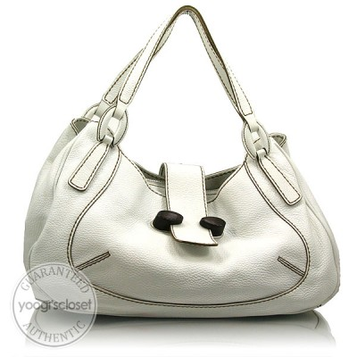 Tod's White Leather Satchel Bag