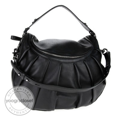 Gucci Black Leather Icon Bit Hobo Bag