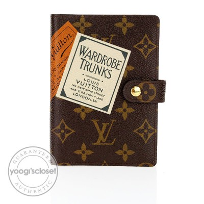 Louis Vuitton Limited Edition Monogram Labels Small Ring Agenda