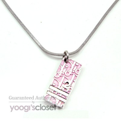 Christian Dior Light  Pink No.2 Tag Necklace
